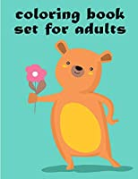 Coloring Book Set For Adults: Easy and Funny Animal Images (Kids gift idea)