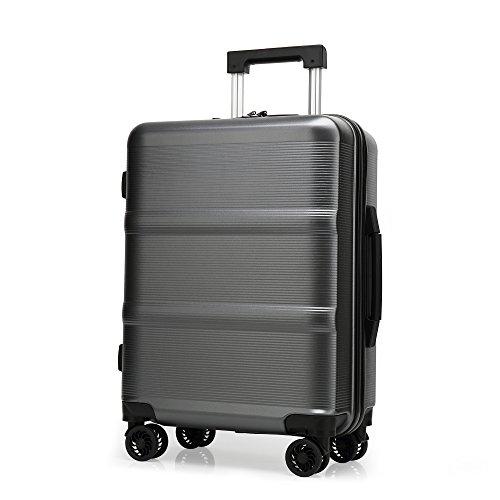 クロース(Kroeus)スーツケース ファスナータイプ ABS・PC キャリーケース 超軽量 海外旅行 出張 TSAロック搭載 耐衝撃 4輪静音 仕切り付き S型機内持ち込み可 日本語取扱説明書 1年間保証