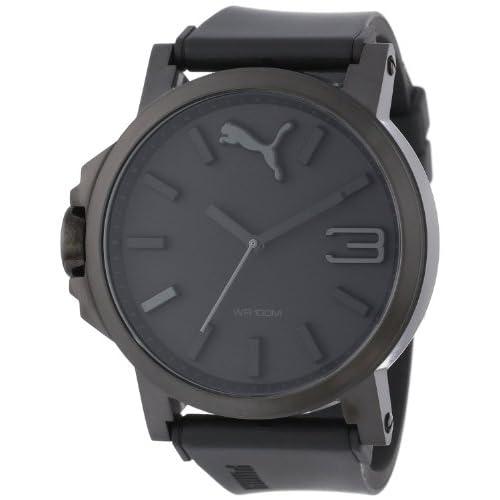 [プーマ] PUMA 腕時計 Men's Ultrasize Black Sport Watch クォーツ PU102941001 メンズ [バンド調節工具&高級セーム革セット]【並行輸入品】