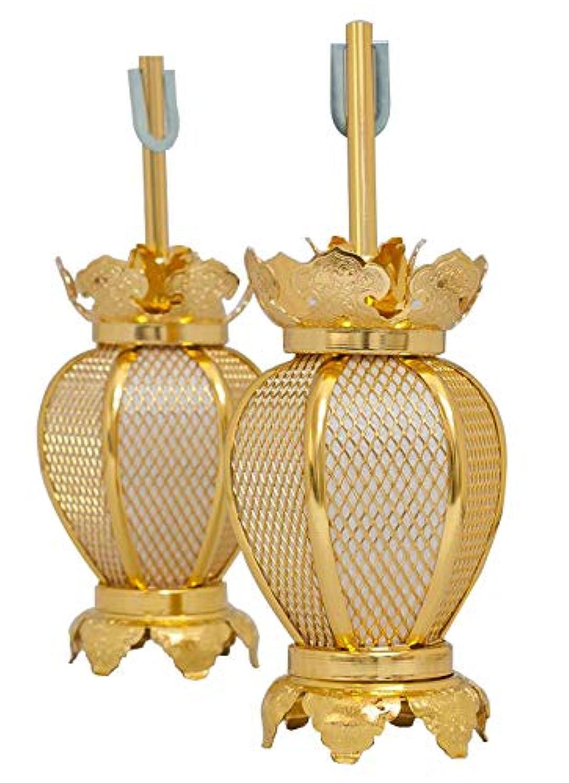 吊灯籠(吊り灯篭) アルミ夏目型 小/直径 7cm 1対