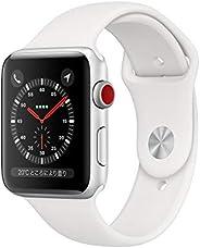 Apple?Watch Series?3(GPS?+?Cellularモデル)- 42mmシルバーアルミニウムケースとホワイトスポーツバンド