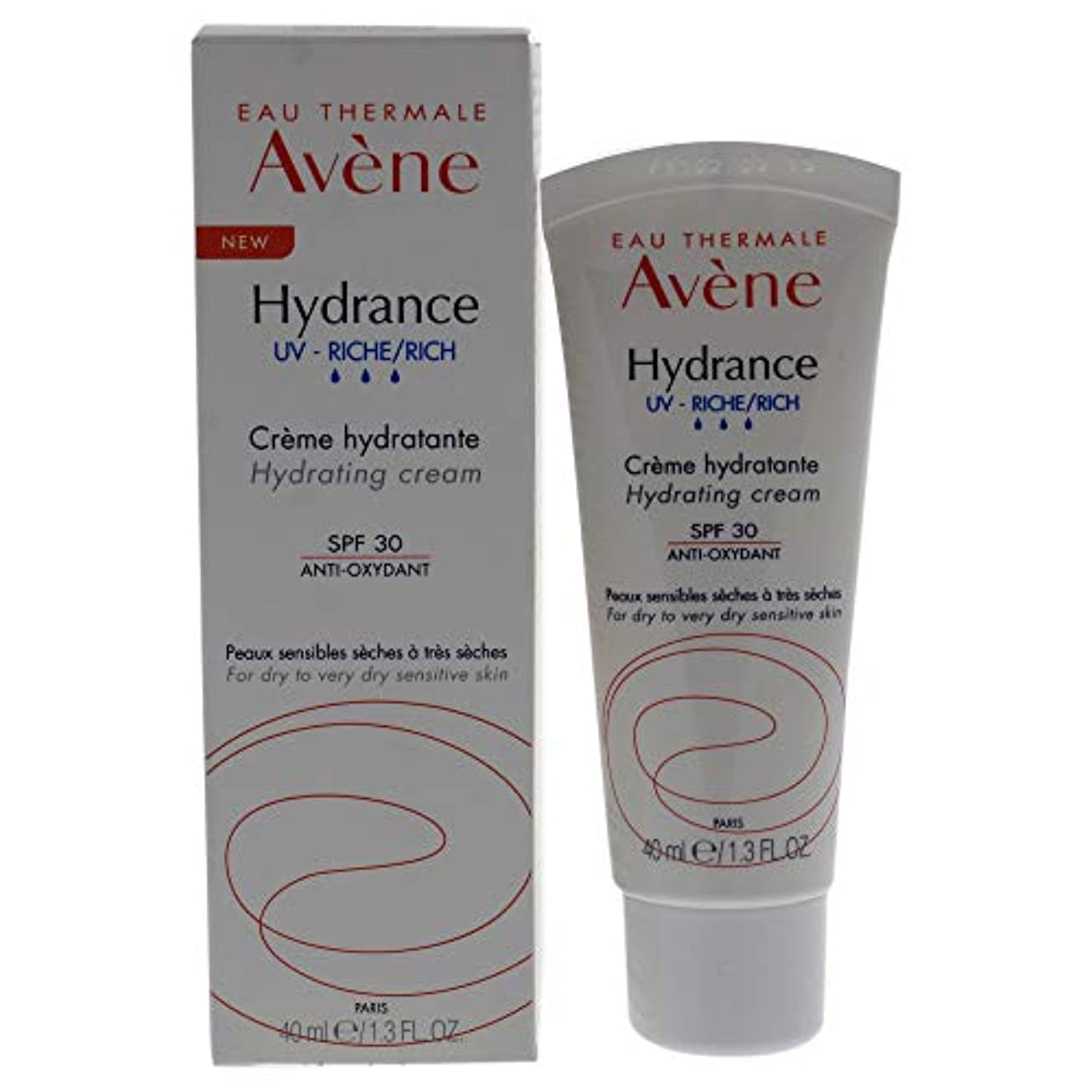 検出可能してはいけません早熟アベンヌ Hydrance UV RICH Hydrating Cream SPF 30 - For Dry to Very Dry Sensitive Skin 40ml/1.3oz並行輸入品