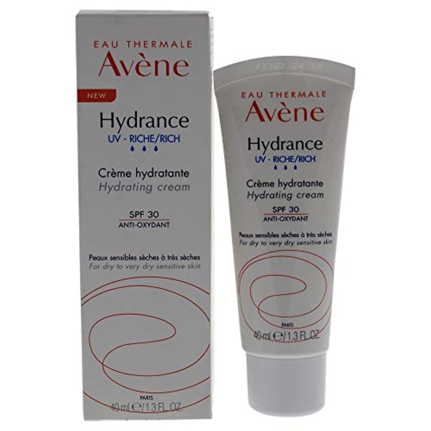 りチェリーレールアベンヌ Hydrance UV RICH Hydrating Cream SPF 30 - For Dry to Very Dry Sensitive Skin 40ml/1.3oz並行輸入品