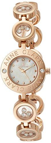 [アンクラーク]ANNE CLARK 腕時計 天然1Pダイヤモンド ムービングカラーストーン レディース ブレス ウォッチ ピンクゴールド×ホワイトシェル AT-1008-09PG レディース