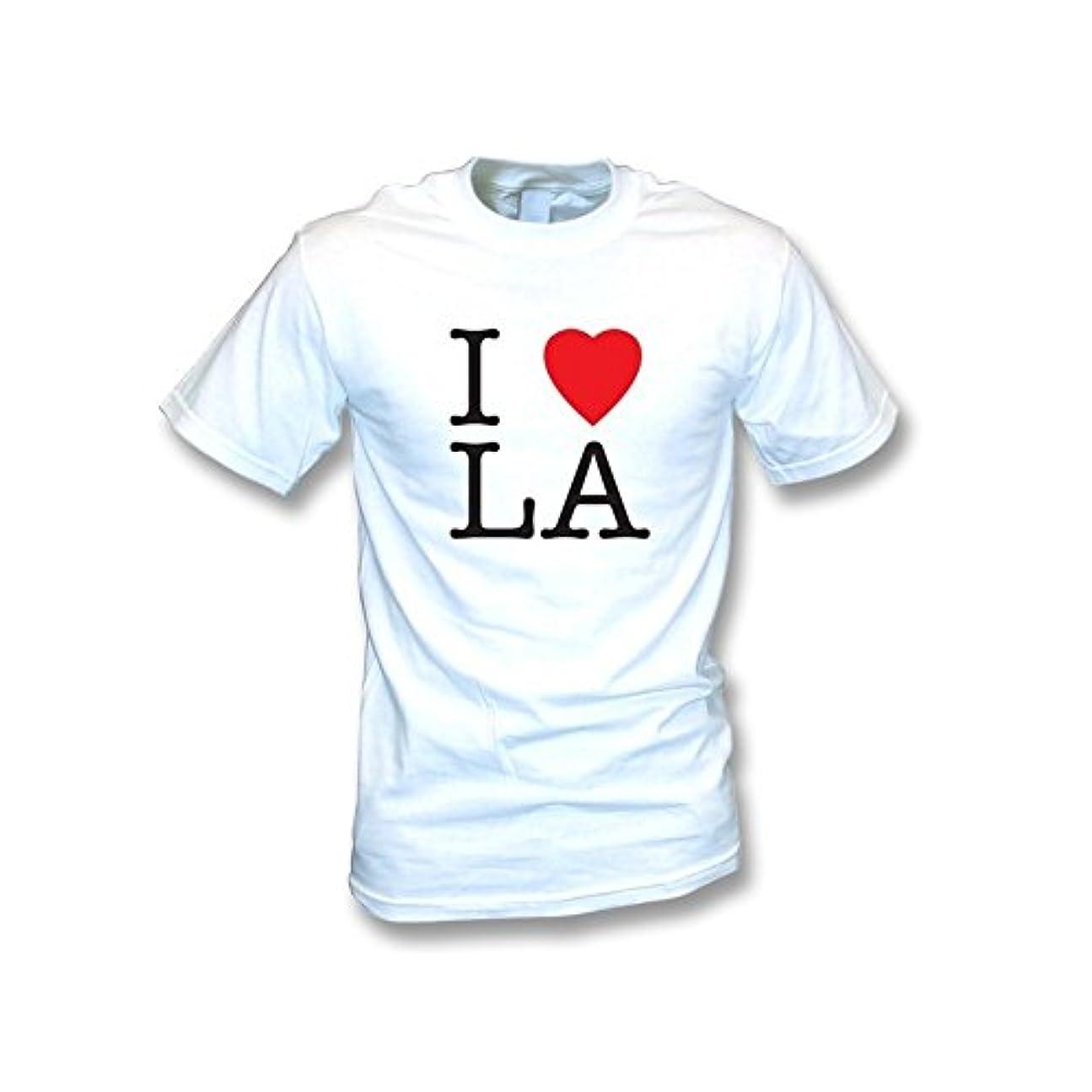 発言するボット容赦ないI Love LA Tシャツ