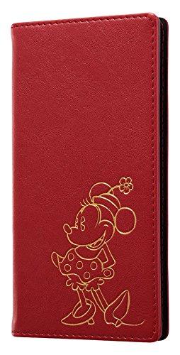 レイ・アウト Xperia XZ1 ケース 手帳型 ディズニー キャラクター ホットスタンプ ワンポイント/ミニーマウス RT-RDXZ1I/MN