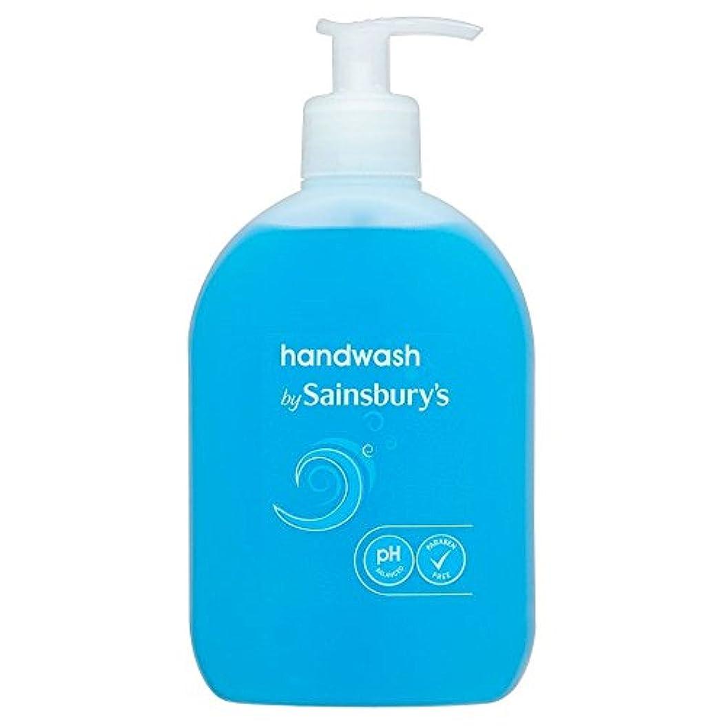 飢饉一口粘液Sainsbury's Handwash, Blue 500ml - (Sainsbury's) 手洗い、青500ミリリットル [並行輸入品]