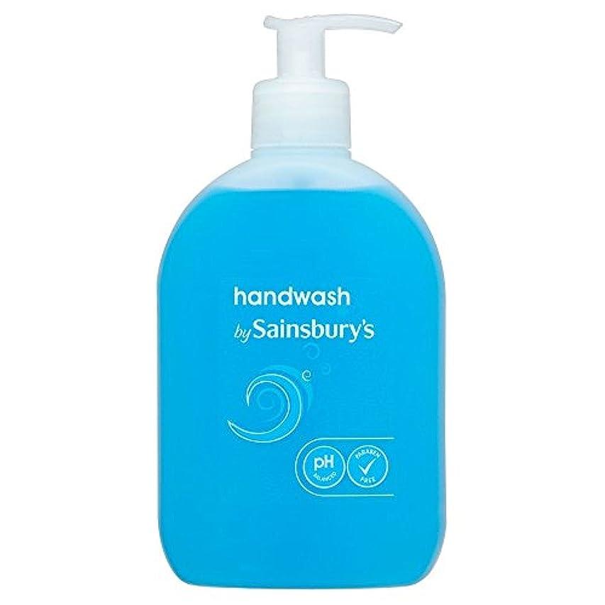 リットル略すぬるいSainsbury's Handwash, Blue 500ml (Pack of 6) - (Sainsbury's) 手洗い、青500ミリリットル (x6) [並行輸入品]