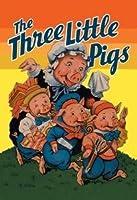 """Three Little Pigs Fineアートキャンバス印刷( 28"""" """" X 42"""""""