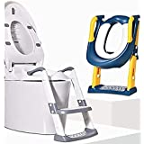 Potty Training Seat with Step Stool Ladder,Baby Toddler Kids Boys Girls Potty Toilet Training Seat,Comfortable cushioned Safe