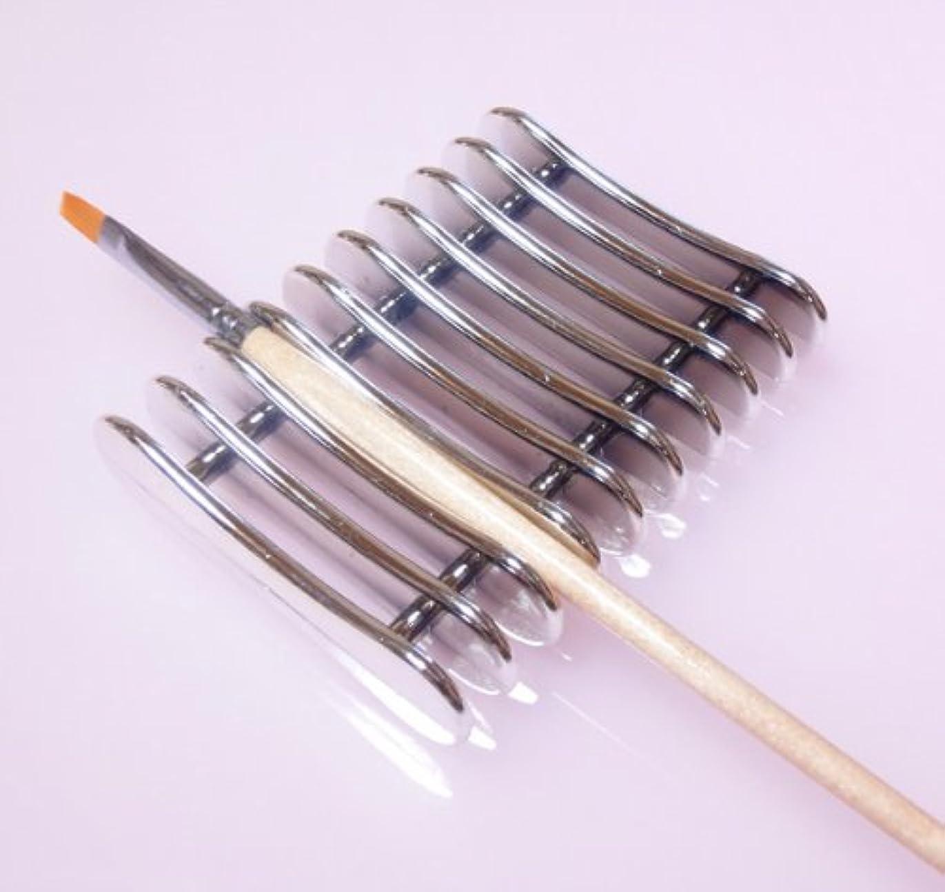 新鮮な領域解明するネイルブラシホルダー ブラシスタンド ジェルネイル筆置き ネイル用品