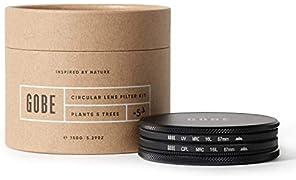 Gobe 67mm UV + Circular Polarizing (CPL) Lens Filter Kit (3Peak)