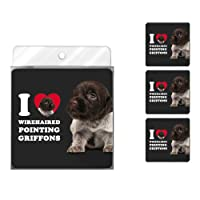 Tree-Free Greetings NC39143 I Heart Wirehaired Pointing Griffons 4-Pack Artful Coaster Set
