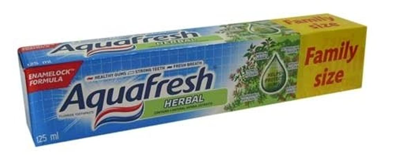 送った埋める休日にアクアフレッシュ ハーブ歯磨き粉 125ml*6個入 [並行輸入品]