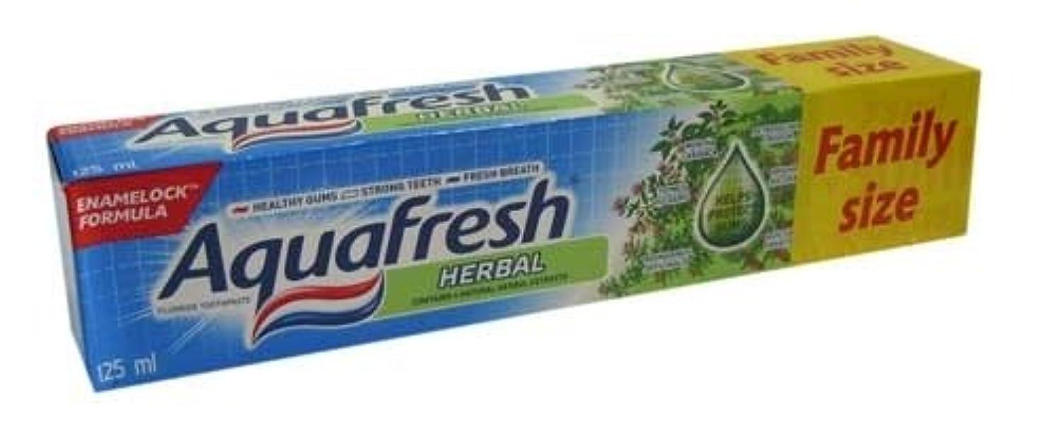 最も遠い兄矛盾するアクアフレッシュ ハーブ歯磨き粉 125ml*6個入 [並行輸入品]