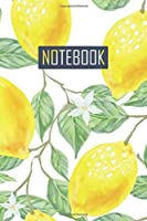 Notebook: Blanko Lemons Journal for Notes, Thoughts, Ideas, Reminders, Lists to do, Planning  (6x9 inches) Notebook Zitronen Notizbuch