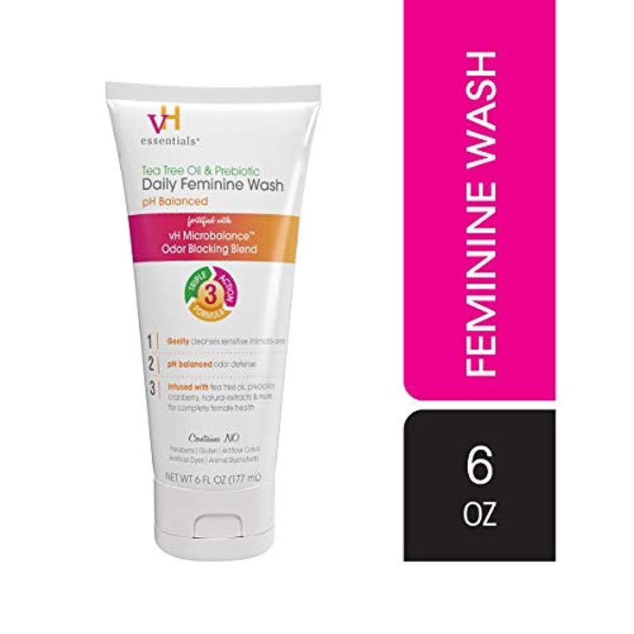 化粧コウモリ正確さvH essentials 親密なフェミニンウォッシュ - ティーツリーオイル、クランベリー、プレバイオティクス、ラベンダー、そしてChamomile- 6流体オンスでpHバランス