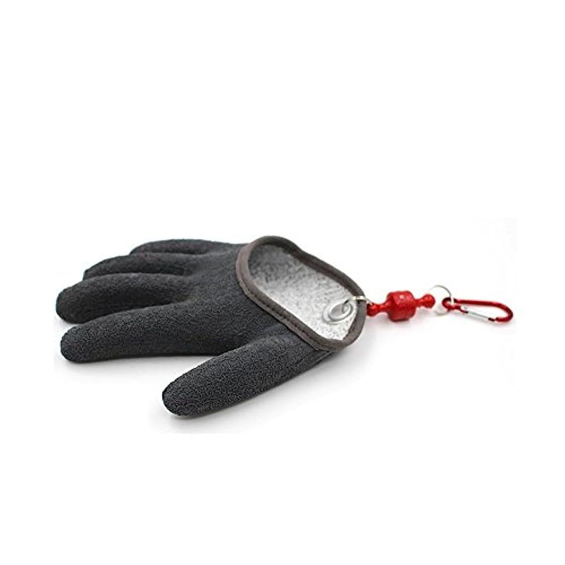 セルフコイリングキャッチ魚釣りグローブ手袋topindハンティンググローブ滑り止め、防水PEワイヤWovenラテックス釣り狩猟手袋withマグネットリリース釣りツール1個