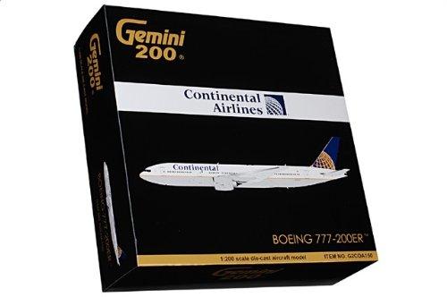 1:200 ジェミニジェット 200 G2COA150 ボーイング 777-200ER ダイキャスト モデル コンチネンタル 航空 N77012【並行輸入品】