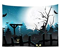 おしゃれ壁掛け タペストリー ファブリック装飾用品 壁掛け壁画 北欧風 モダンなアート 模様替え 部屋 窓カーテン 個性ギフト 欧米風 ハロウィーン 幽霊 さみしさ