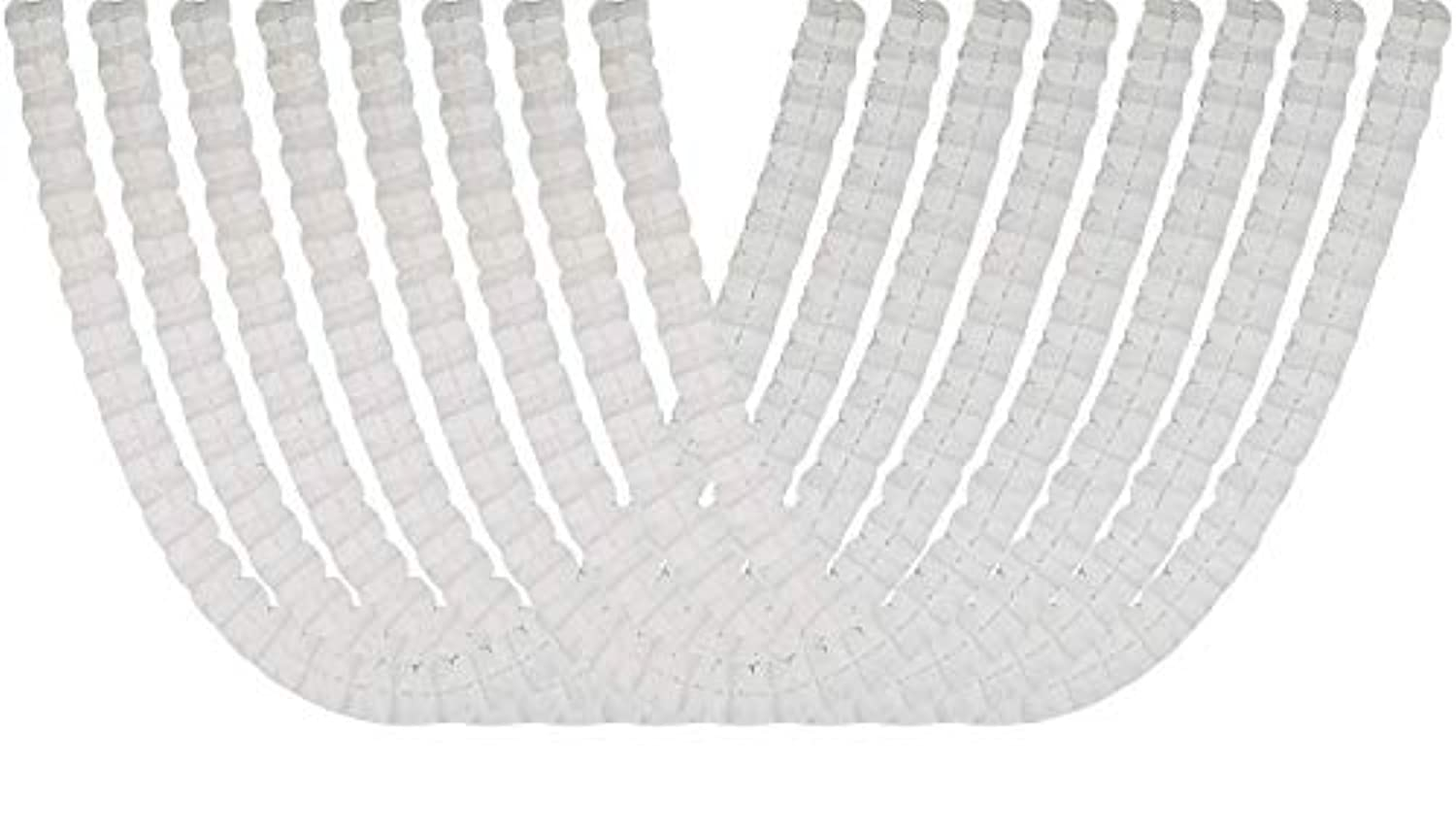 Four Leaf Tissue Paper Hanging Flower Garland for Party Supplies, Wedding Decorations and Streamers Pack of 8 (White)