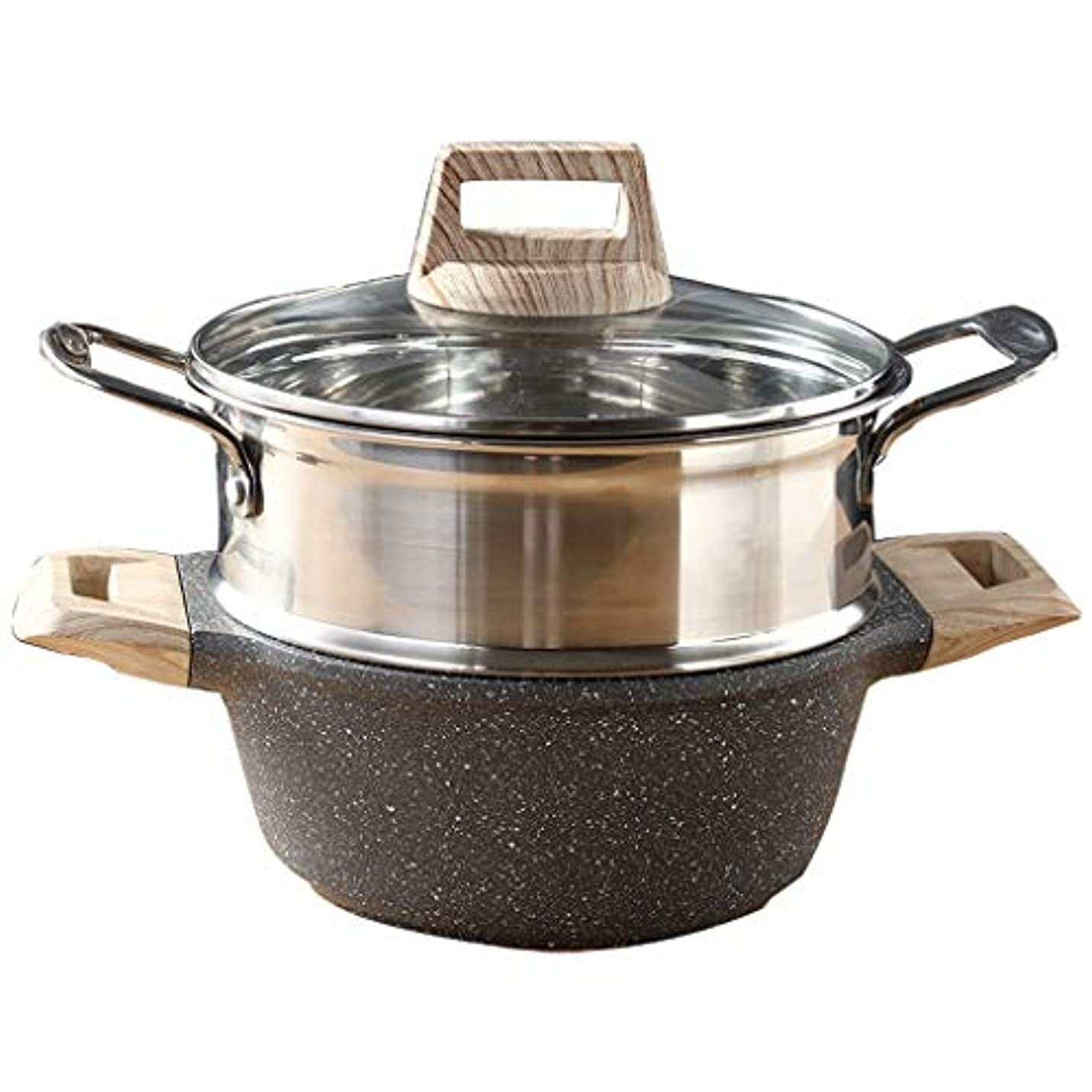 財産ヘルパーご予約MHTCJ 304麦飯ステンレス鋼の蒸気石、ノンスティックパン、スープの蒸気釜の上部に、吸収性ガラスの瓶のふたIHコンロプレート