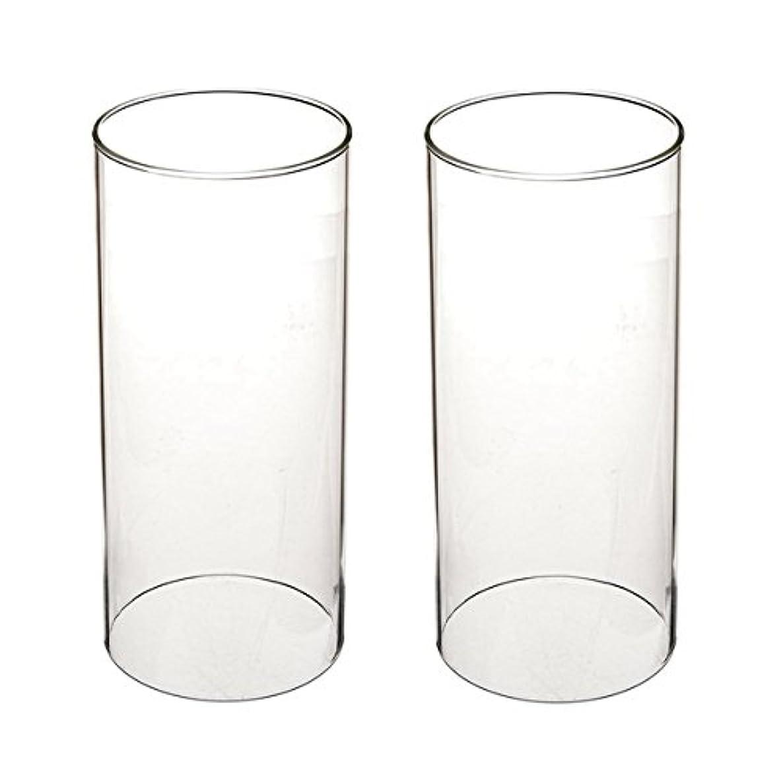 本物マーキーグリーンランドガラス煙突for Candleオープンエンド、ホウケイ酸ガラス( d3 h8