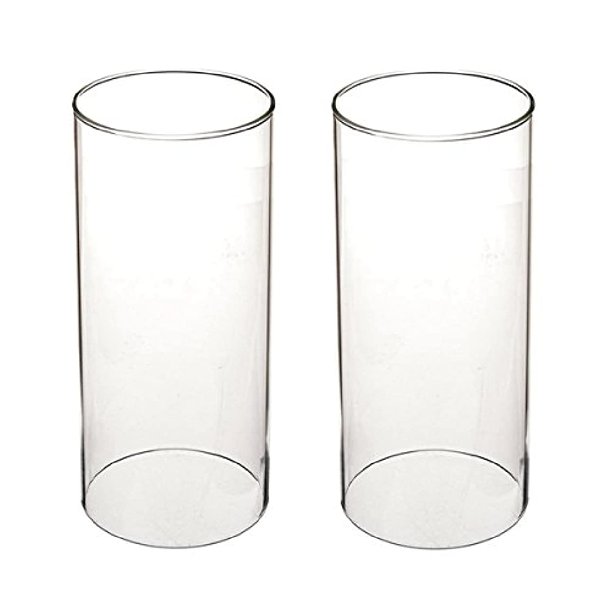 万一に備えて新年裁量ガラス煙突for Candleオープンエンド、ホウケイ酸ガラス( d3 h8