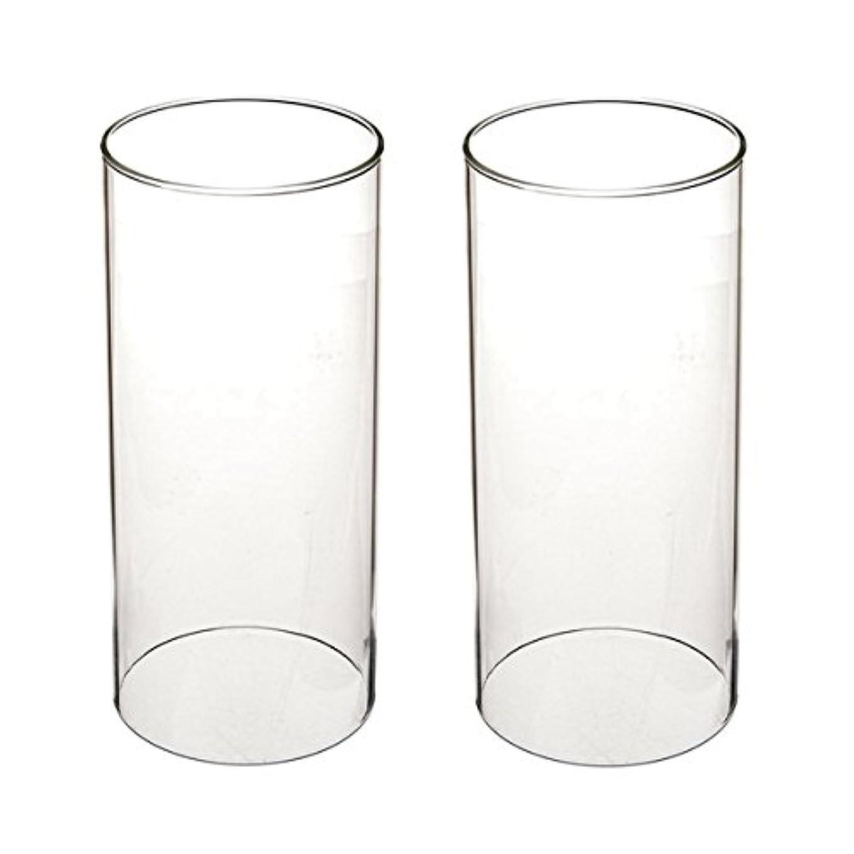 狂った公爵夫人億ガラス煙突for Candleオープンエンド、ホウケイ酸ガラス( d3 h8