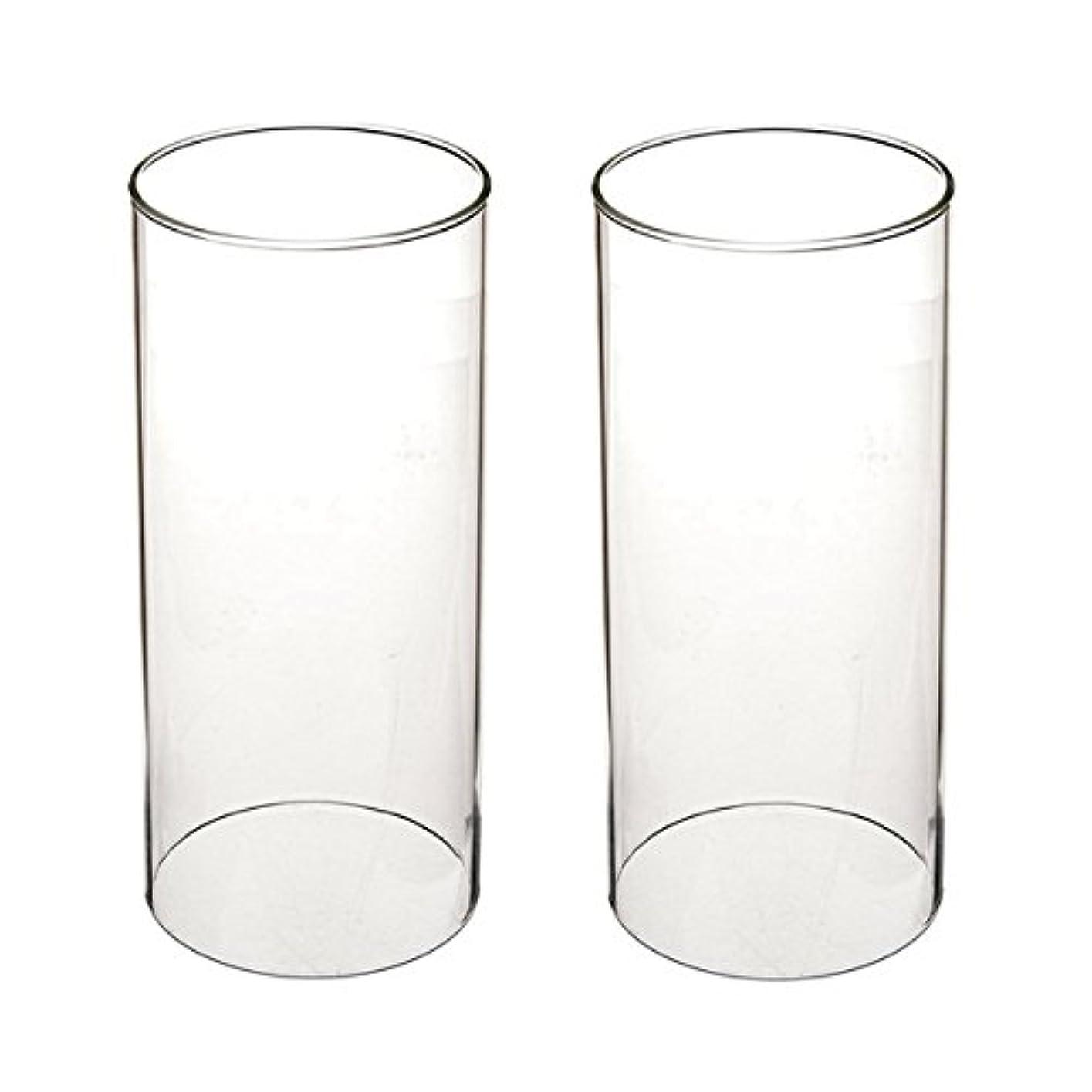 バーベキューあいにく強制ガラス煙突for Candleオープンエンド、ホウケイ酸ガラス( d3 h8