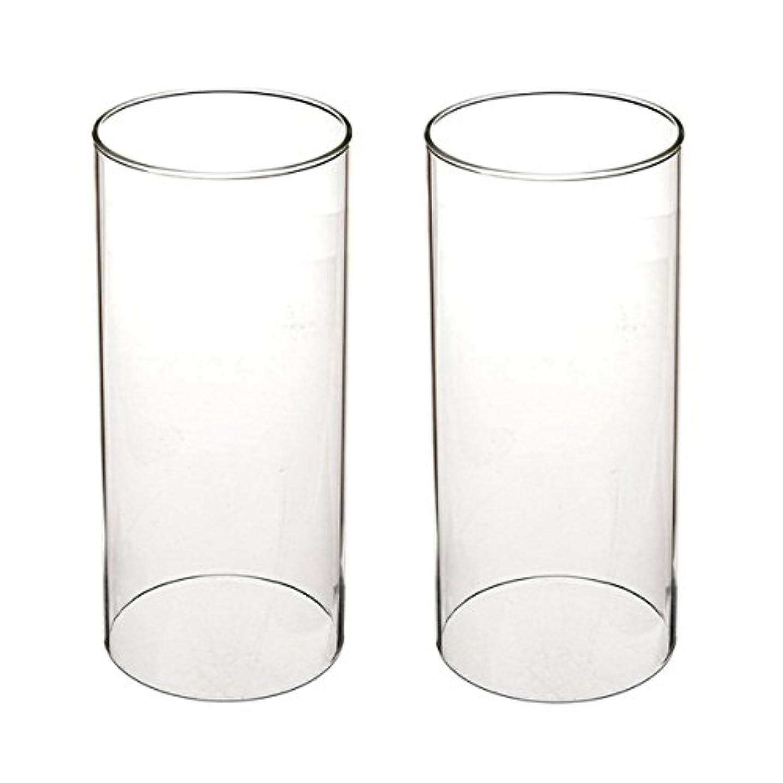 メタリックお別れ余暇ガラス煙突for Candleオープンエンド、ホウケイ酸ガラス( d3 h8