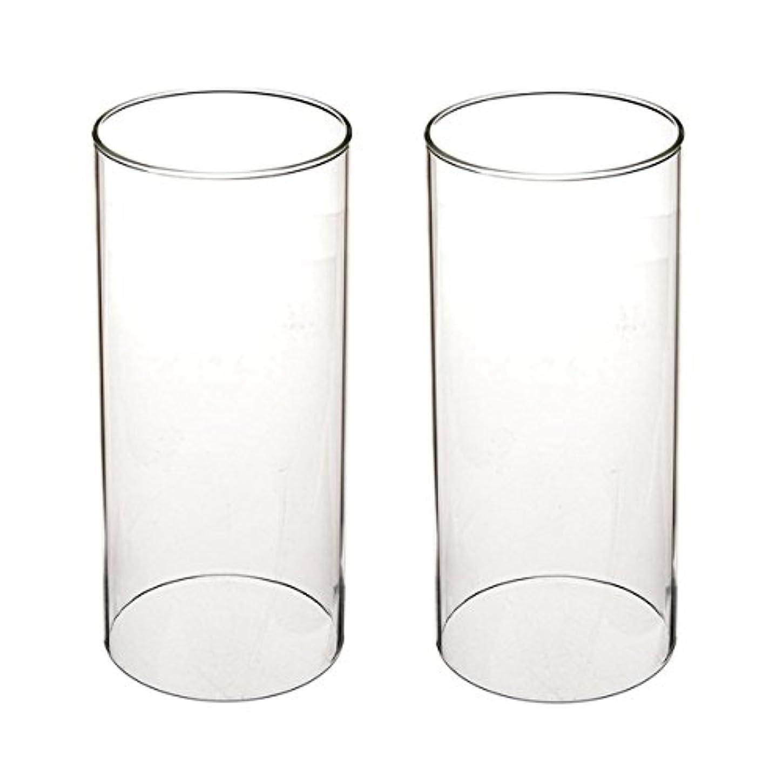 病弱有用共和国ガラス煙突for Candleオープンエンド、ホウケイ酸ガラス( d3 h8