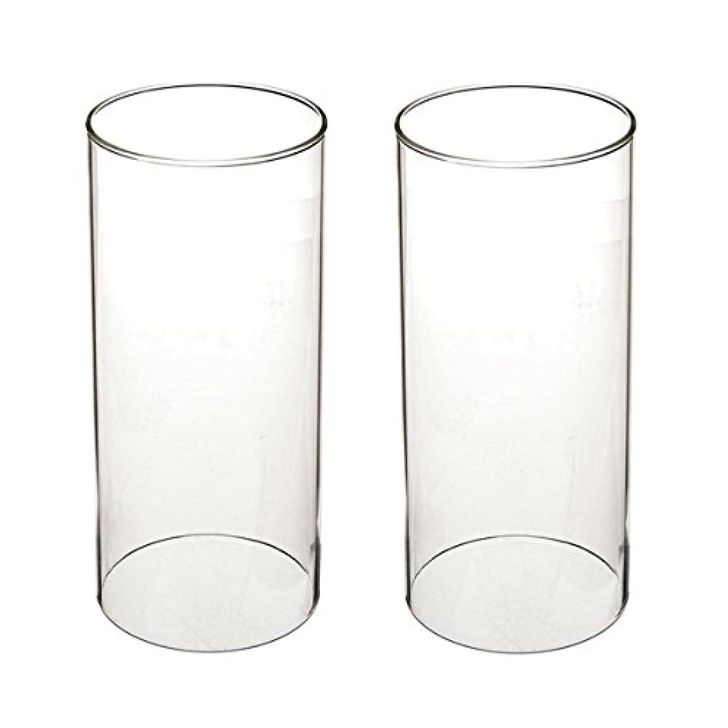 イサカパステル膿瘍ガラス煙突for Candleオープンエンド、ホウケイ酸ガラス( d3 h8