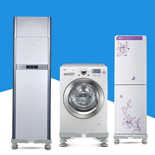 洗濯機台 かさ上げ 昇降可能のドラム式洗濯 台 幅52~70cm 奥行き50~66cm 防止 騒音対策 減音効果( 耐荷重300kg)