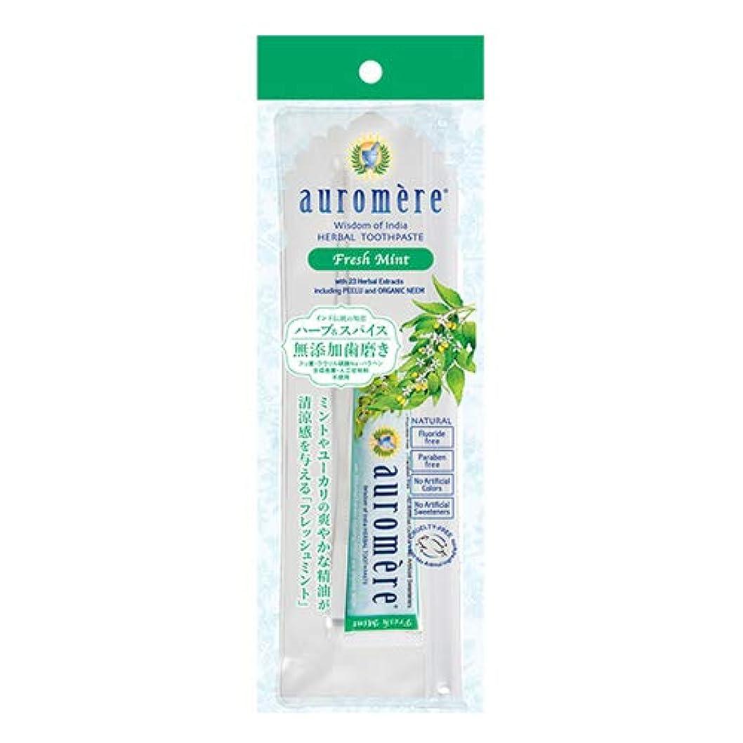 平和ヒロインピアースオーロメア 歯磨き粉 フレッシュミント トラベルセット 20g