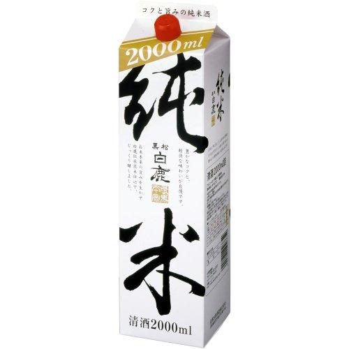 黒松白鹿 純米酒パック 2000ml [兵庫県]