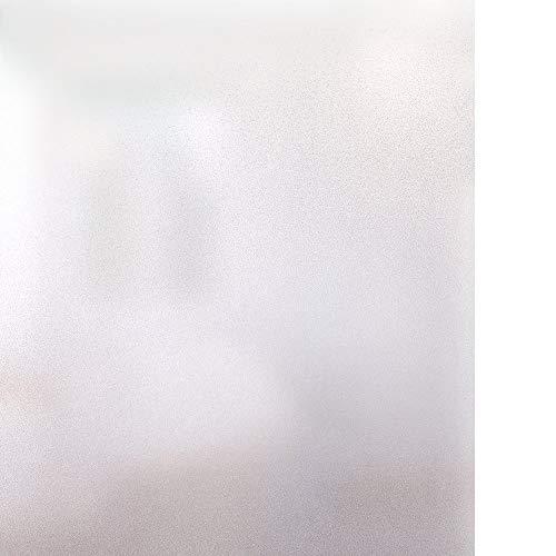 Rabbitgoo 窓 めかくしシート 水で貼れる目隠しシート 貼ってはがせるガラスフィルム 外から見えない窓用フィルム UVカット 防虫忌避 飛散防止(すりガラス 44.5 x 200cm)