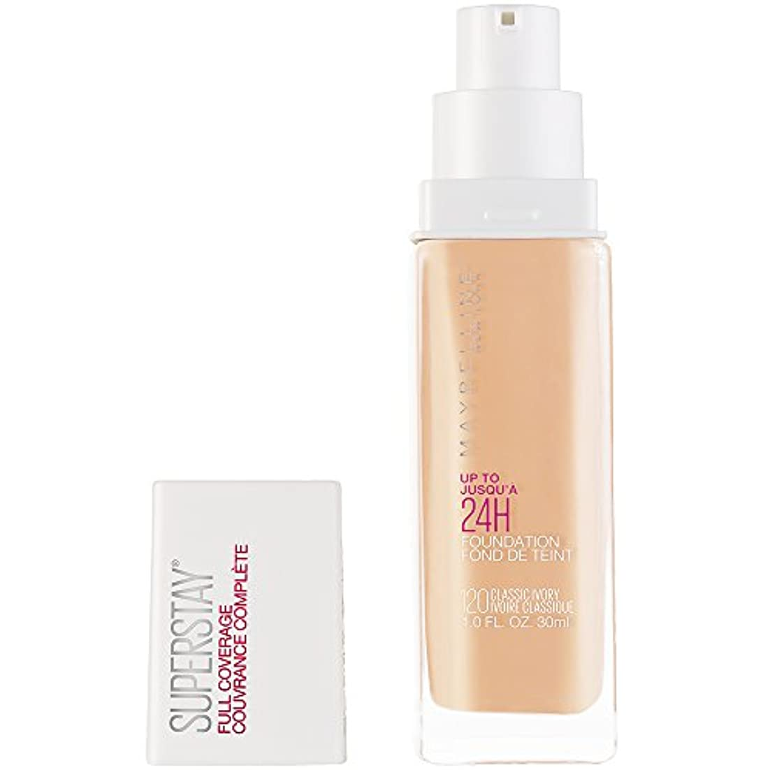 ジャズ情熱類人猿MAYBELLINE Superstay Full Coverage Foundation - Classic Ivory 120 (並行輸入品)