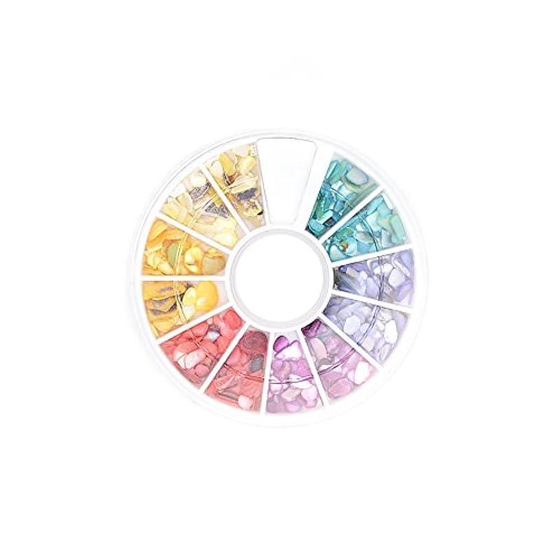 慈善作る時間ネイルパーツ シェル パーツ フラワーシェルストーン 6色セット 各1g 合計6g入り