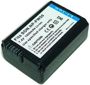 PowerFirst NP-FW50互換バッテリー(残量表示対応)【ネットショップ ロガリズム】NP-FW50