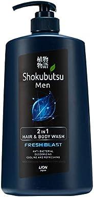 Shokubutsu Men 2 in1 Hair and Body Wash, Fresh Blast, 850ml