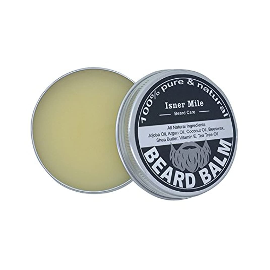 Ruier-tong ビアードワックス ビアードバーム メンズひげワックス 口髭用ワックス ひげクリーム 保湿/滋養/ひげ根のケアなどの効果  ひげケア必需品 携帯便利 淡い黄色