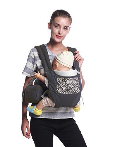 ベビーキャリア、mobesy人間工学軽量ソフトウエストベルトスリング、すべてのキャリー位置、取り外し可能ポーチと、新生児幼児用、ua8908 グレー 43186-161971