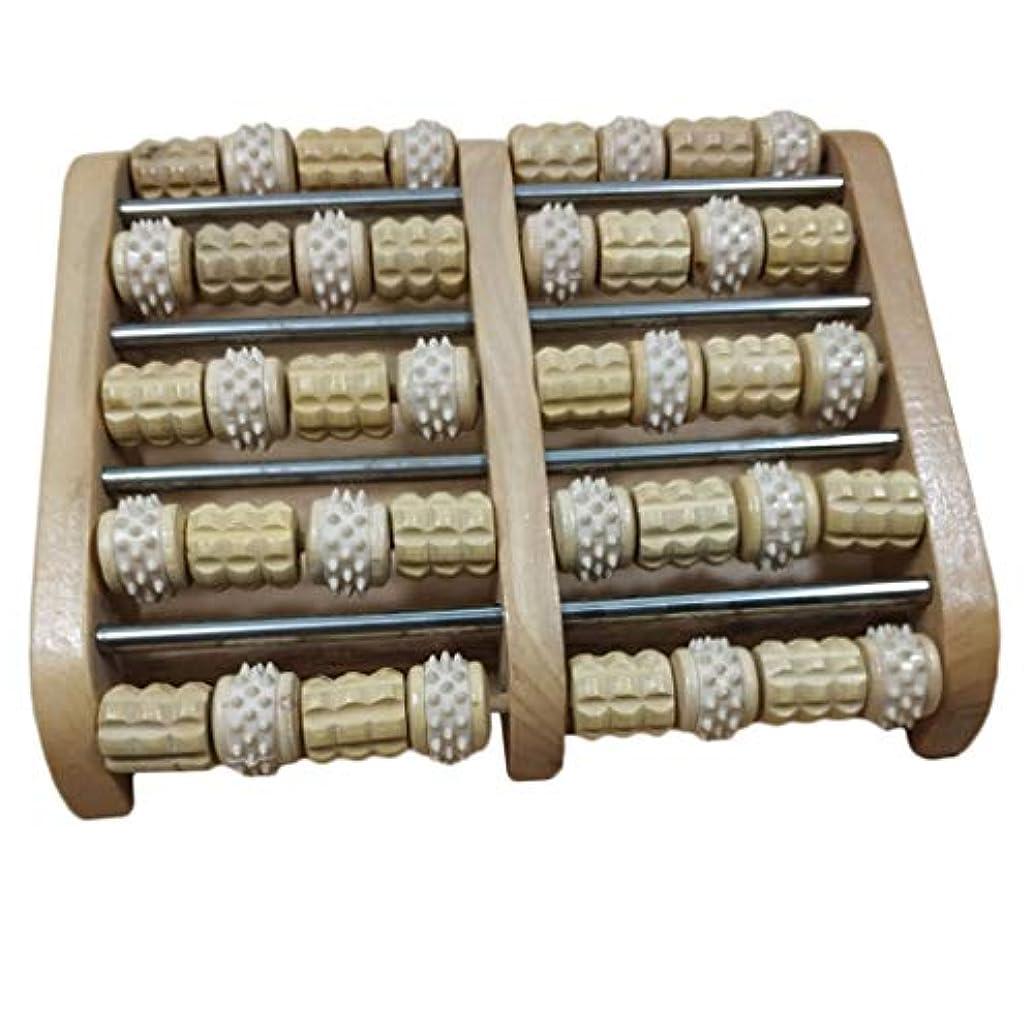 眠る野ウサギロック解除デュアルフットマッサージローラー 家庭用 サロン用 フットマッサージ 木製 高品質