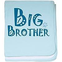 CafePress – Big Brother – スーパーソフトベビー毛布、新生児おくるみ ブルー 057214916825CD2