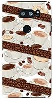 イサイ ブイサーティ プラス [lgv35] isai v30+ ハードカバー ケース コーヒーとコーヒー豆 au スマホケース エーユー スマホカバー デザインケース