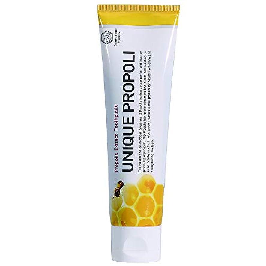 反発ネーピアシルエットUNIQUE PROPOLI ユニークプロポリ歯磨き粉 120g,