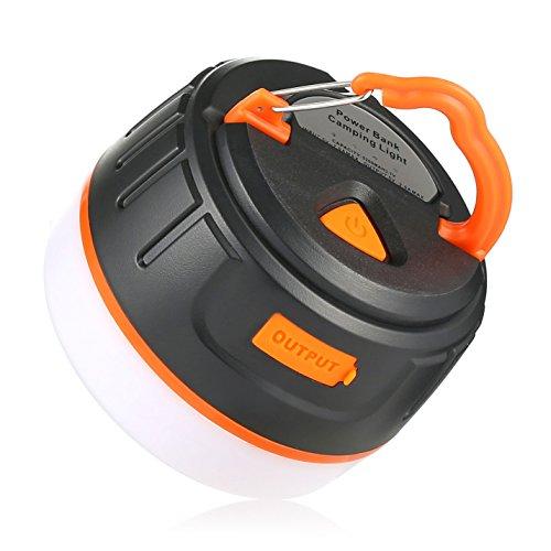 LEDランタン,Abask アウトドアライト 5200mAh モバイルバッテリー USB充電式 超軽量 懐中電灯 防水ライト 携帯式 5つ調光モード 防災・キャンプ用品