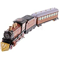 collectible Wind Up Train ClockworkメタルTin Toy Craftsホームインテリアブラウン