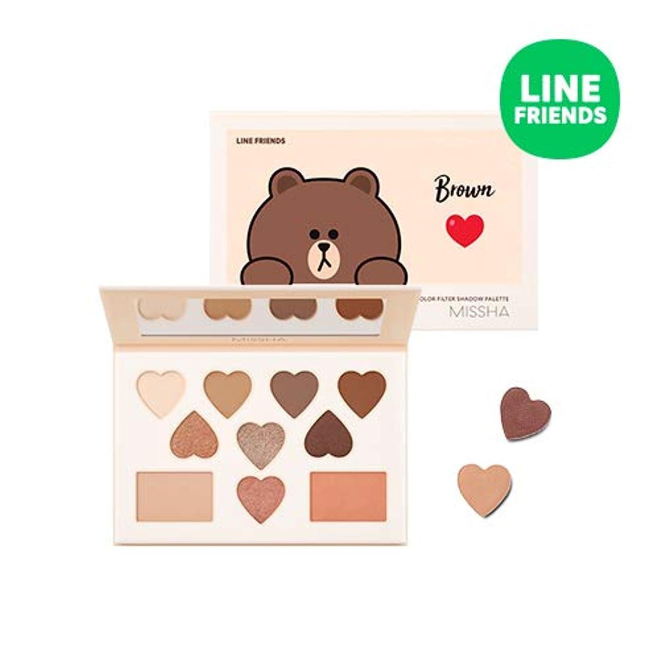 慈悲頬骨流行しているミシャ[ラインフレンズエディション] カラー フィルター シャドウ パレット MISSHA [Line Friends Edition] Color Filter Shadow Palette #5. Brown [並行輸入品]